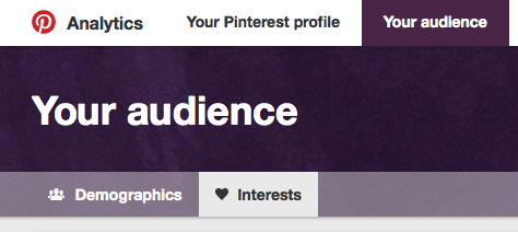 Pinterest Audience Interests
