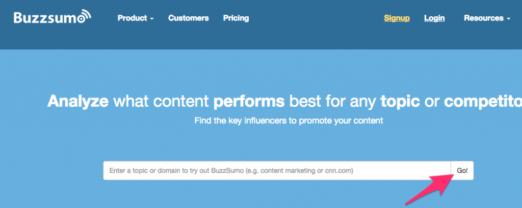 BuzzSumo screenshot