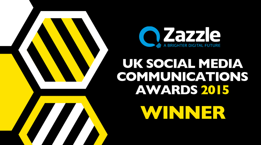 Zazzle Win Social Media Communications Award