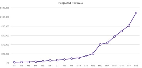 projected revenue screenshot image