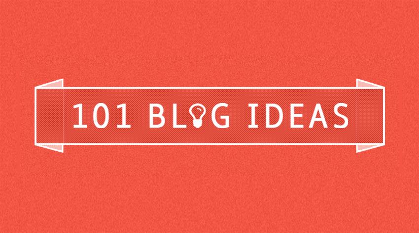 101 blog ideas image
