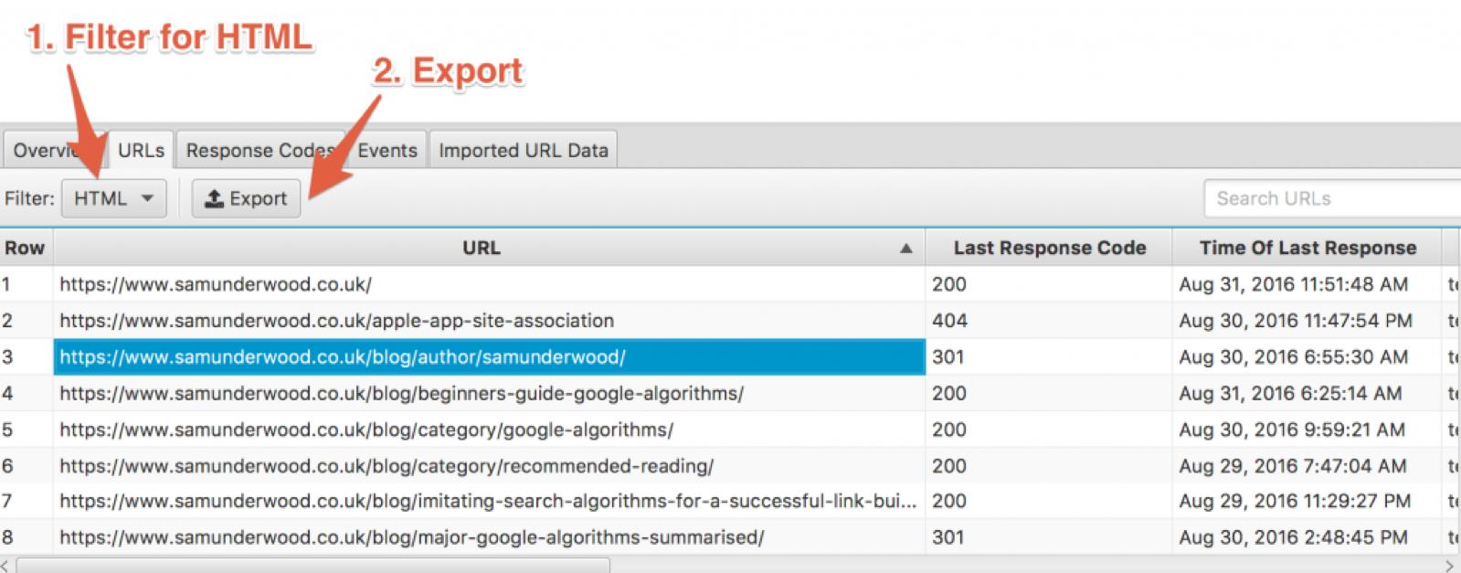 Filter for html