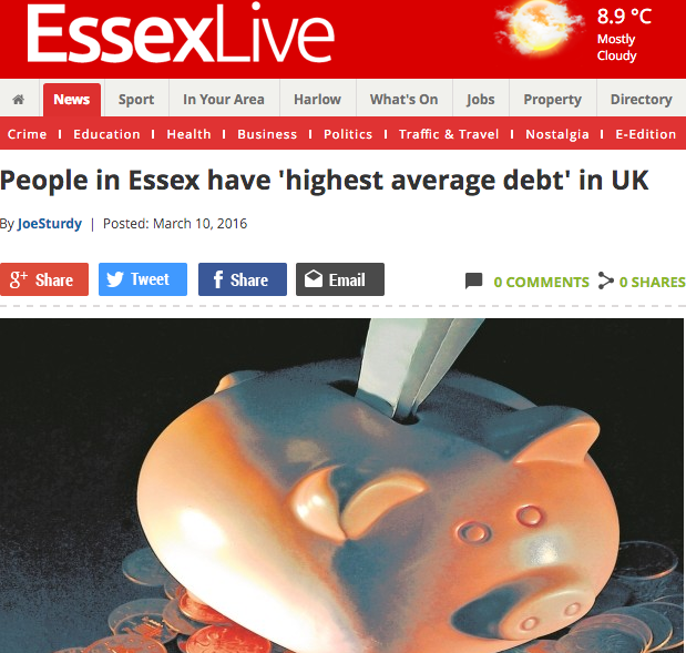 essex live news article screenshot