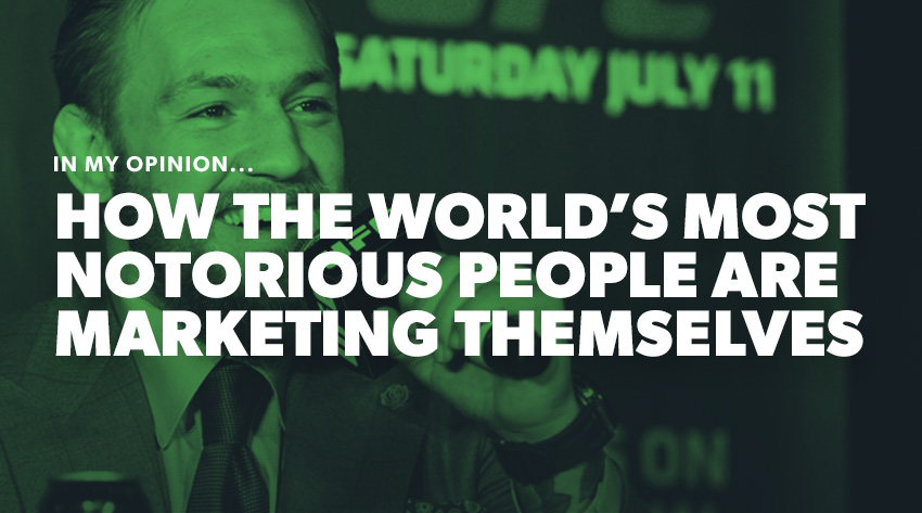 Notorious people marketing themselves, Connor McGregor banner image