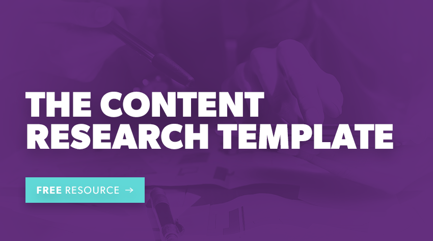 the content research template free resource download button
