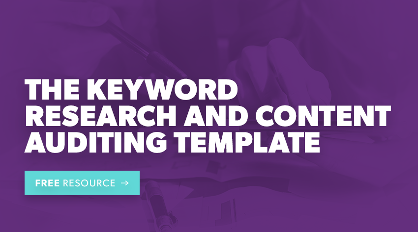 keywords research and auditing template downloads button