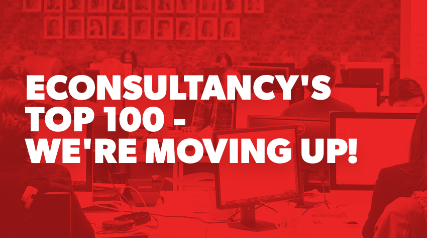we're a the top 100 content marketing agency