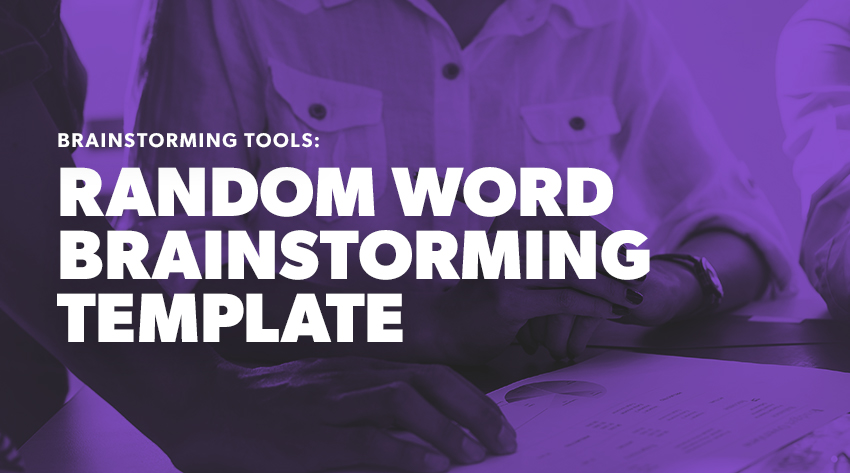 word association template brainstorm