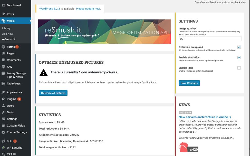 Wordpress Smush