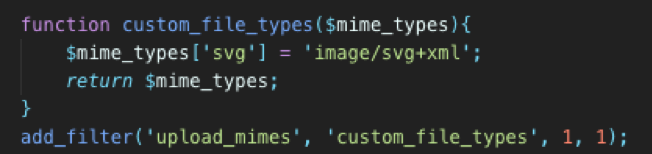 custom file types code