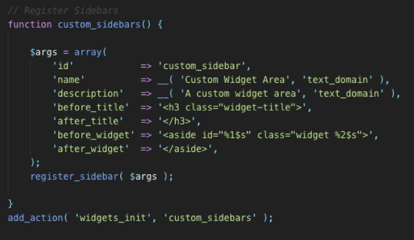 custom widget code wordpress