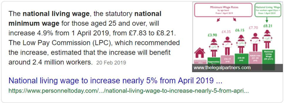 national living wage snippet