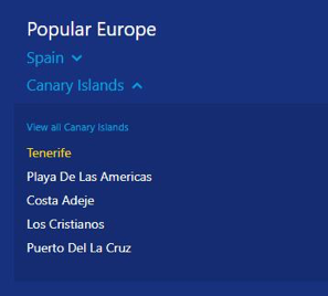 popular in Europe snippet