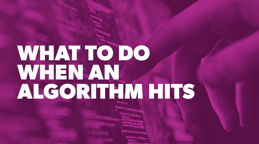 What to do When an Algorithm Hits
